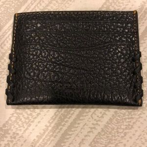 Coach Black Leather Women's Card Case